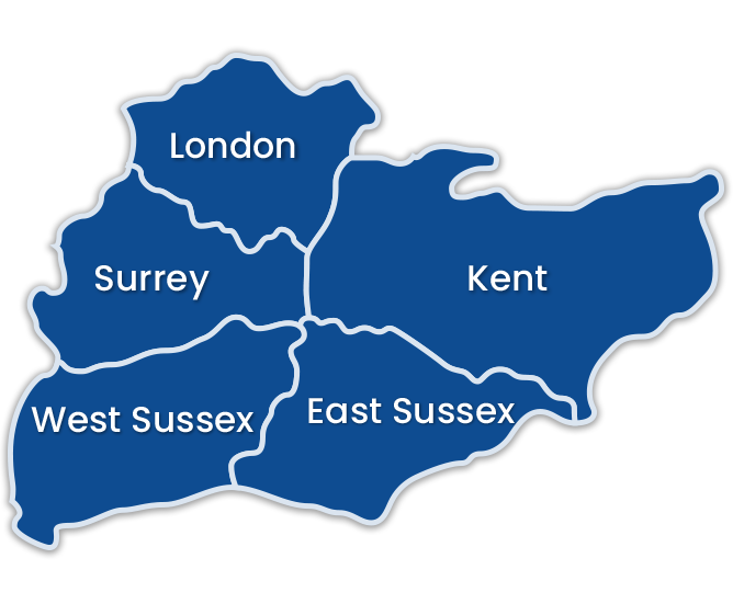 London and Kent Locations Map
