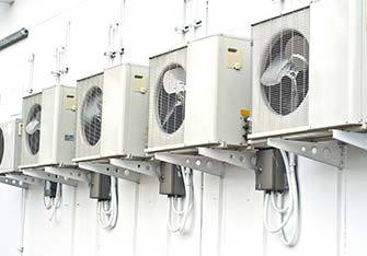 Aircon units outside building